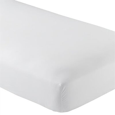 Wrinkle Resistant 200 Thread Count Fitted Sheet Size: Twin, Color: White
