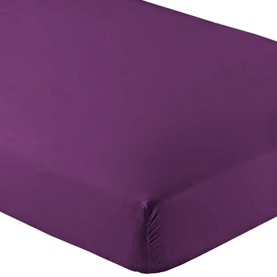 Wrinkle Resistant 200 Thread Count Fitted Sheet Size: Twin XL, Color: Plum