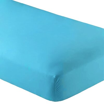 Wrinkle Resistant 200 Thread Count Fitted Sheet Size: Twin XL, Color: Aqua