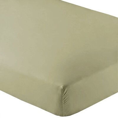 Wrinkle Resistant 200 Thread Count Fitted Sheet Size: Twin XL, Color: Sage