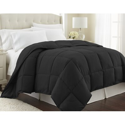 Vilano Springs  Down Alternative Comforter Size: Twin / Twin XL, Color: Black