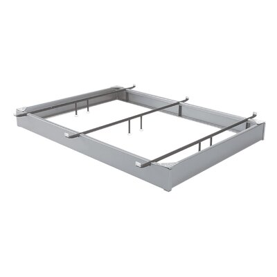 All Steel Bed Base Color: Matte Aluminum, Size: Queen