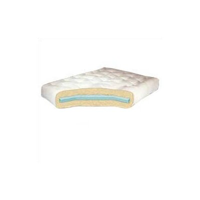 Foam & Cotton Futon Mattress Size: Twin, Color: Blue, Thickness: 8