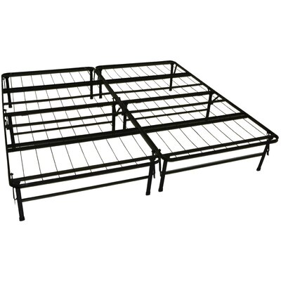 Foundation and Frame-In-One Mattress Support System Platform Bed Frame Size: King