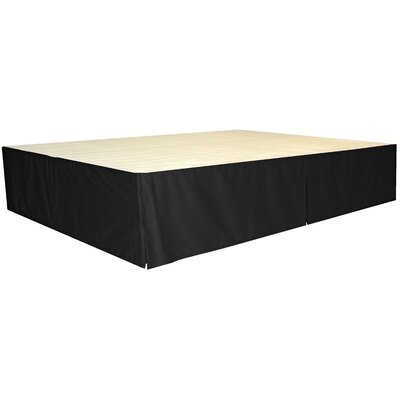 Bed Skirt Size: Full, Color: Twill Black