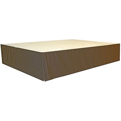 Bed Skirt Size: King, Color: Twill Brown