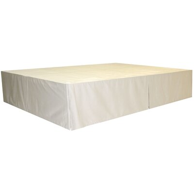Bed Skirt Size: King, Color: Twill Natural-Ivory