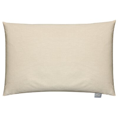 Travel Bed Buckwheat Hulls Pillow Size: 15 x 23, Color: Beige