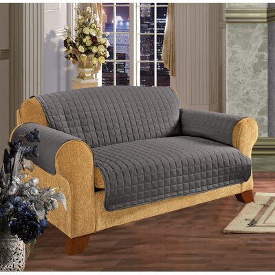 Furniture Protector Microfiber Slipcover Upholstery: Gray