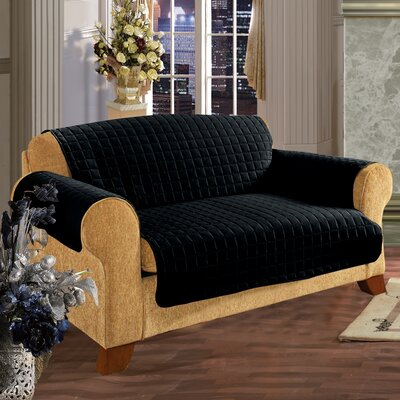 Furniture Protector Microfiber Sofa Slipcover Upholstery: Black