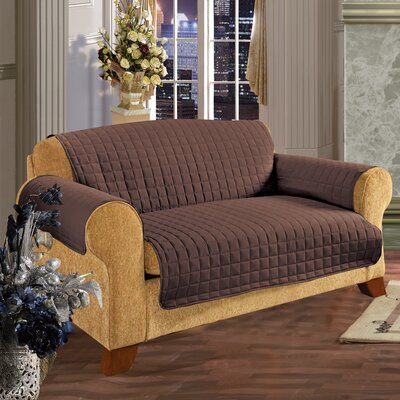 Furniture Protector Microfiber Slipcover Upholstery: Chocolate