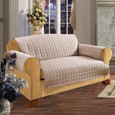 Furniture Protector Microfiber Sofa Slipcover Upholstery: Natural