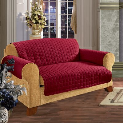 Furniture Protector Microfiber Sofa Slipcover Upholstery: Red