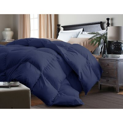 Down Alternative Comforter Size: Twin, Color: Navy
