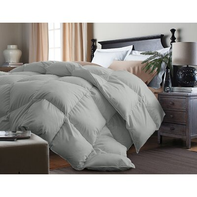 Down Alternative Comforter Size: Twin, Color: Silver