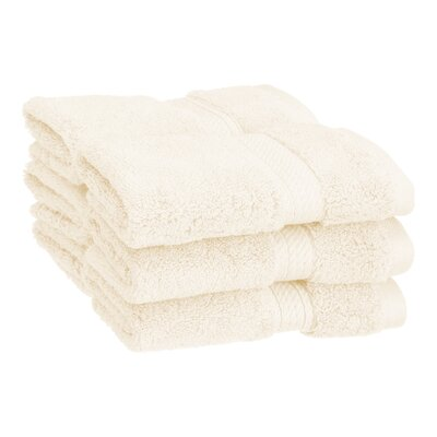 Superior Hugo 6 Pieces Washcloth Towel Set Color: Cream