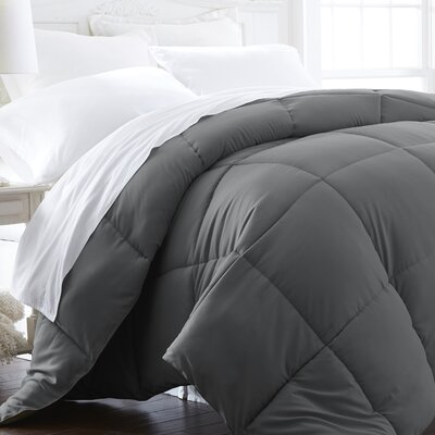All Season Down Alternative Comforter Size: Full / Queen, Color: Gray