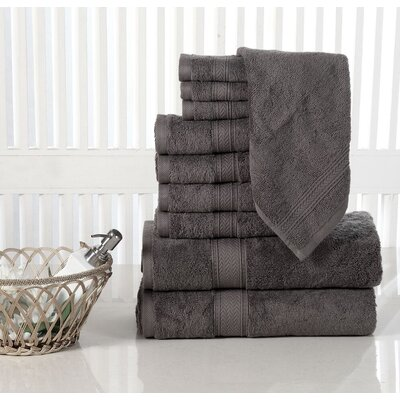 10 Piece Towel Set Color: Grey