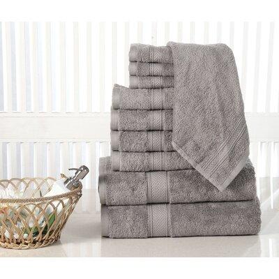 10 Piece Towel Set Color: Platinum