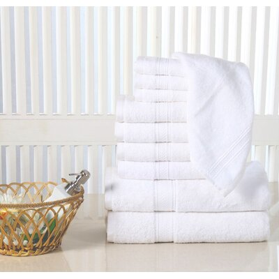 10 Piece Towel Set Color: White