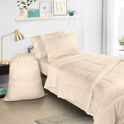 6 Piece Bed-In-a-Bag Set Color: Beige