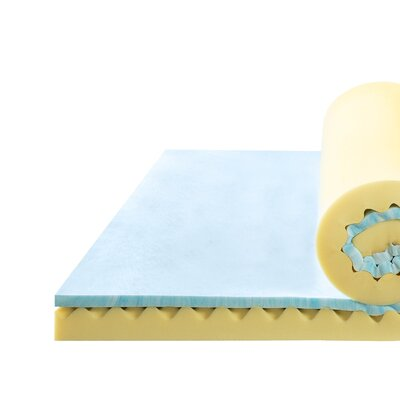 Convoluted Swirl 4 Memory Foam Mattress Topper Size: Queen