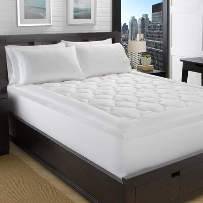 Fluffy Clouds 2 Polyester Mattress Pad Bed Size: Twin