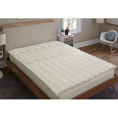 Antimicrobial 2 Memory Foam Mattress Topper Bed Size: Queen