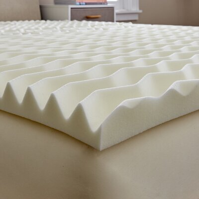 Antimicrobial 2 Memory Foam Mattress Topper Bed Size: Twin
