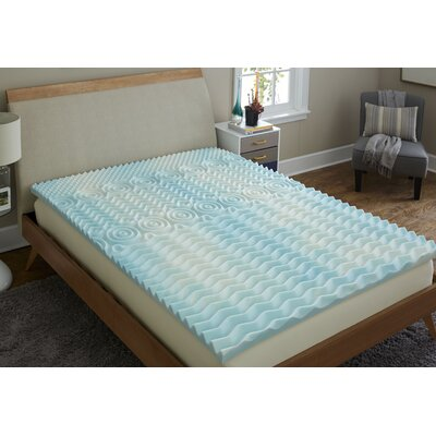 Antimicrobial 2 Gel Foam Mattress Topper Bed Size: Queen