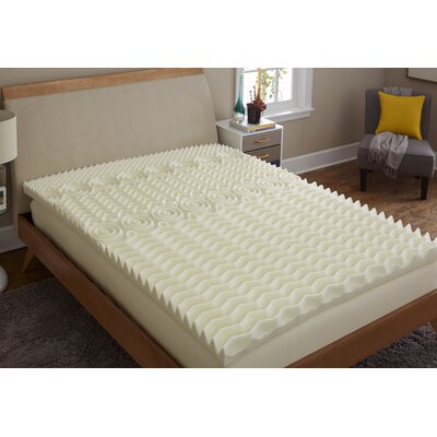 Reversible 3 Memory Foam Mattress Topper Bed Size: Queen