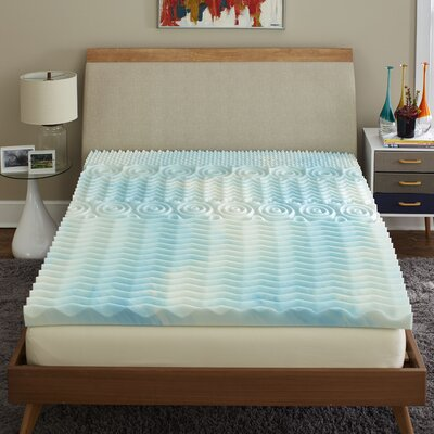 Reversible 3 Gel Foam Mattress Topper Bed Size: Queen