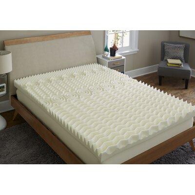 4 Memory Foam Mattress Topper Bed Size: Queen