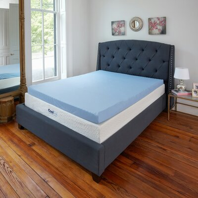 3 Gel Memory Foam Mattress Topper Size: Twin XL