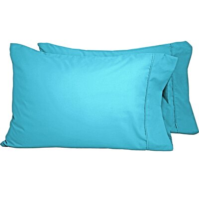 Luxury Premium Ultra-Soft Pillow Case Size: Standard, Color: Aqua