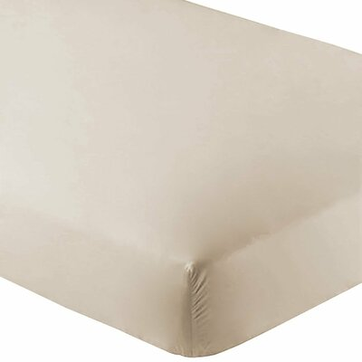 Ultra-Soft Luxury Microfiber Fitted Sheet Color: Sand, Size: Full