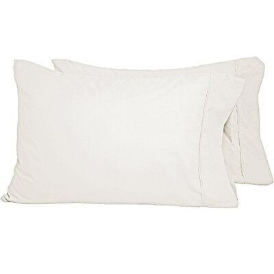 Shiflet Luxury Premium Ultra-Soft Pillow Case Size: Standard, Color: Ivory