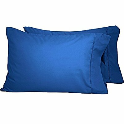 Shiflet Luxury Premium Ultra-Soft Pillow Case Size: Standard, Color: Medium Blue