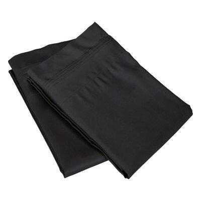 Pillow Case Size: King, Color: Black