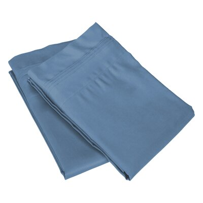 Pillow Case Size: King, Color: Medium Blue