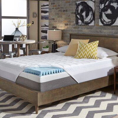 4.5 Gel Memory Foam Mattress Topper Bed Size: Twin