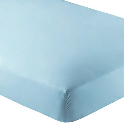 Ultra-Soft Luxury Microfiber Fitted Sheet Color: Light Blue, Size: Twin XL