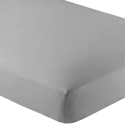 Ultra-Soft Luxury Microfiber Fitted Sheet Color: Light Gray, Size: Queen