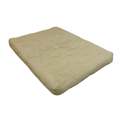 10 Cotton Ottoman Size Futon Mattress Upholstery: Chocolate