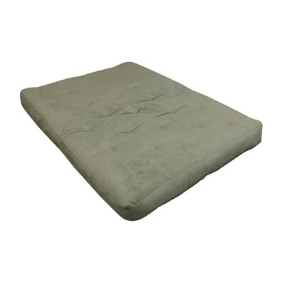 Foam & Cotton Futon Mattress Size: Loveseat, Color: Sage green, Thickness: 8
