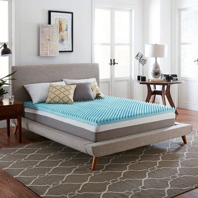 Wayfair Basics 3 Textured Gel Memory Foam Mattress Topper Bed Size: King