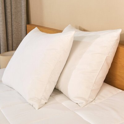 Soft 600 Fill Power Down and Feathers Pillow Size: King