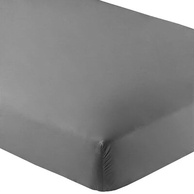 Ultra-Soft Luxury Microfiber Fitted Sheet Color: Gray, Size: Queen