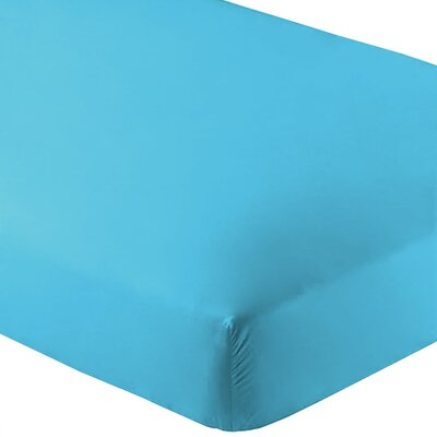 Ultra-Soft Luxury Microfiber Fitted Sheet Color: Aqua, Size: Twin XL