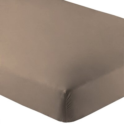 Ultra-Soft Luxury Microfiber Fitted Sheet Color: Taupe, Size: Twin XL